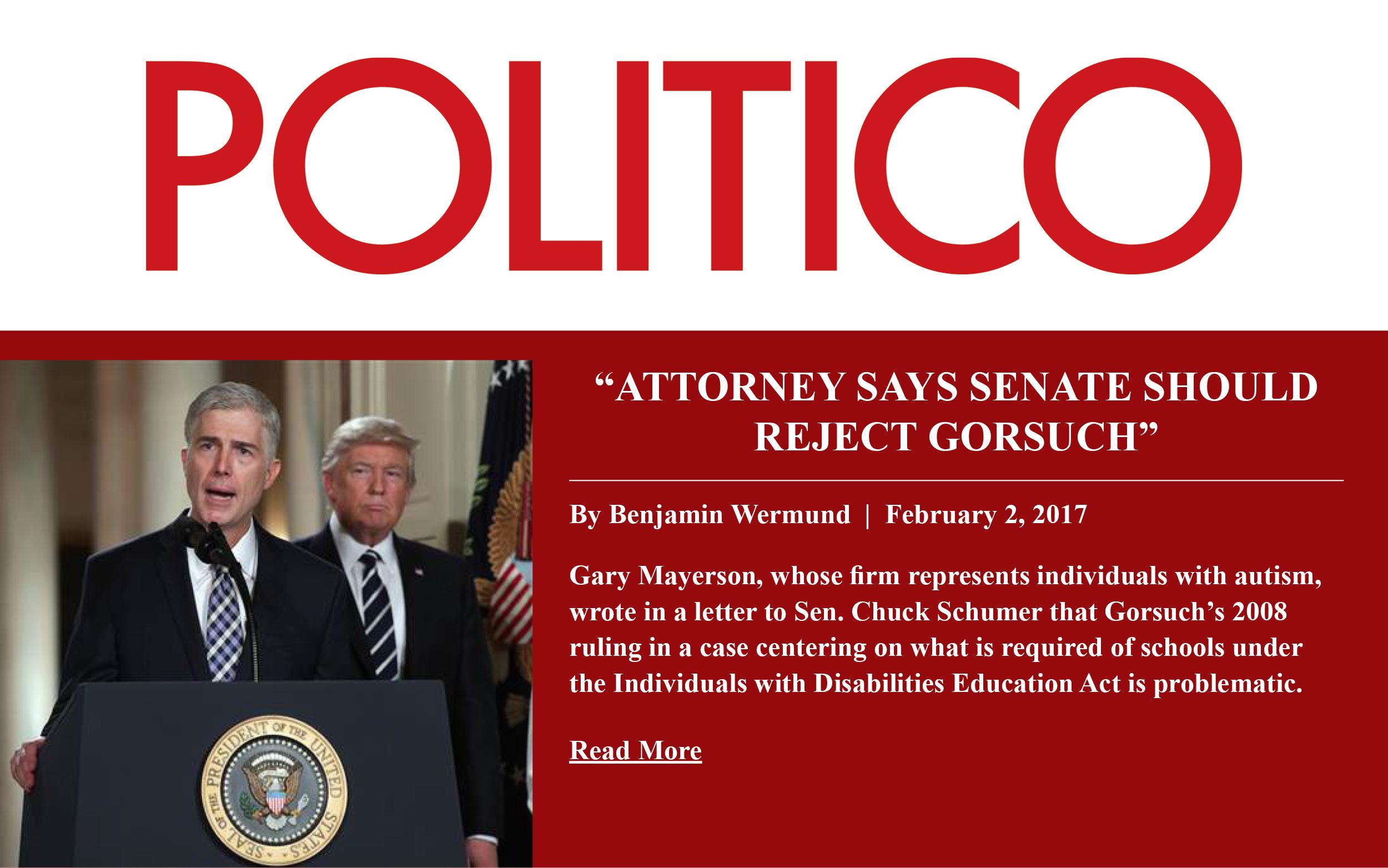 Gary Mayerson - POLITICO